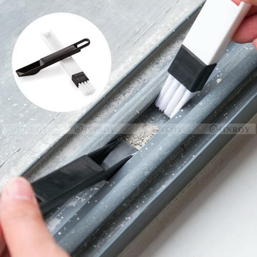 2 in1 Plastic Cleaning Brush Window Slot Toilet Corner Cleaner with Dustpan