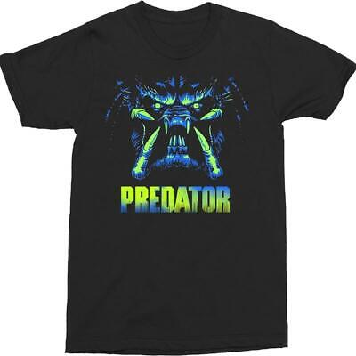 Predator Neon Close Up Space Alien Scary Action Horror Movies T Shirt 40-40](Predator Scary)
