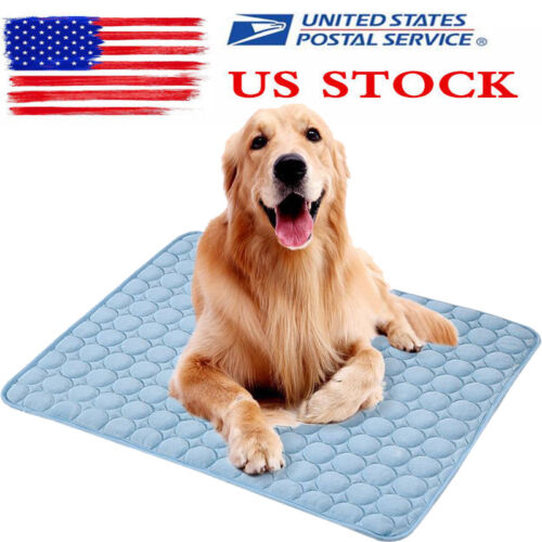 Pet Cooling Mat Non-Toxic Cool Pad Cooler Bed Cusion for Sum