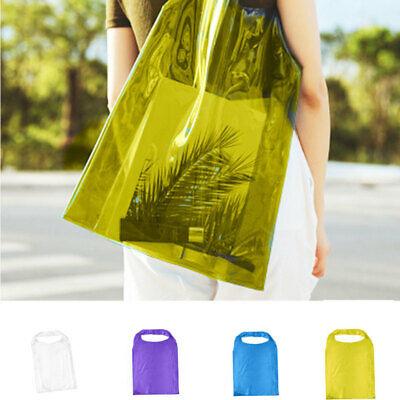 Frauen transparente Umhängetasche klare Handtasche Gelee PVC Strand Tote Bag