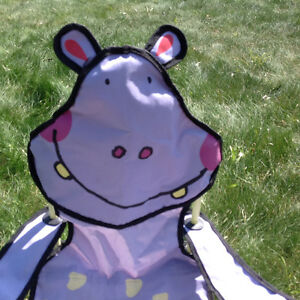 NEW!! Cute Hippo Folding Camping Chair  with a Cup Holder Strathcona County Edmonton Area image 2