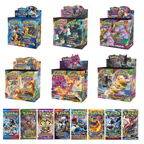 324Stück Pokemon Karte GX TCG Booster Box EVOLUTIONS Kunst-Sammelkarten-Geschenk
