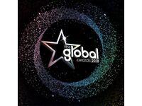 GLOBAL AWARDS 2018 - TICKETS X2 - £100