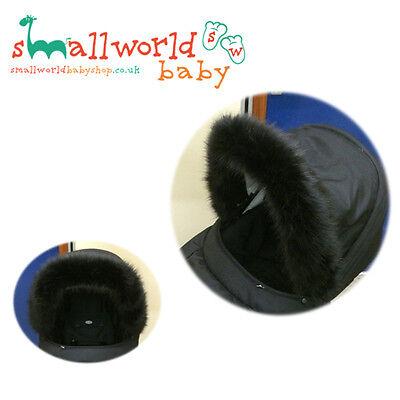 Black Fur Pram Hood Trim Accessory (NEXT DAY DISPATCH)