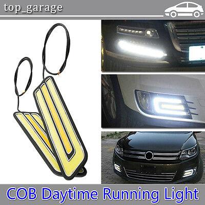 2pcs LED COB DRL Daytime Running Light Car Fog Driving Turn Lamp Waterproof 12V