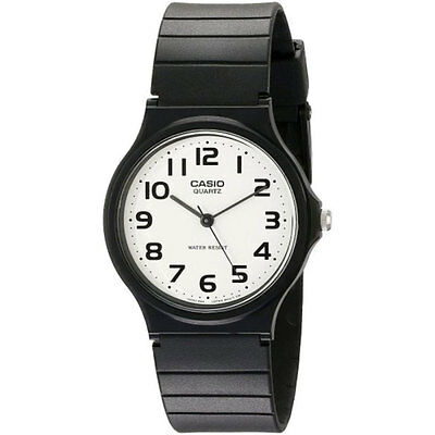 Casio MQ24-7BLL  Mens Watch with White Dial Analougue Display and Black Resin St