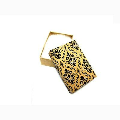 100 Damask Cotton Filled Jewelry Gift Boxes 3 14 X 2 14 X 1