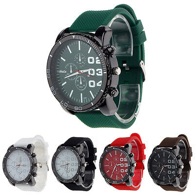 $2.24 - Luxury Sport Analog Quartz Mens Stainless Case Steel Wrist Watch Cheap