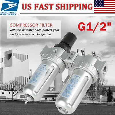 12 Air Pressure Compressor Filter Regulator Oil Water Regulator Tool Kit Us