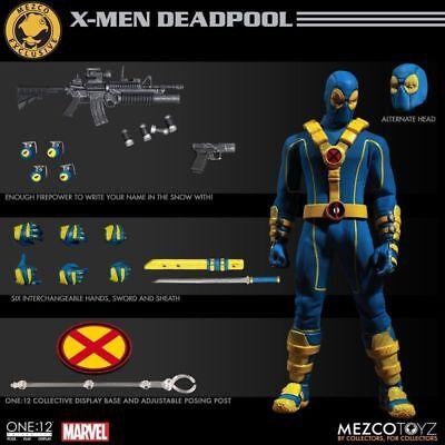 """6"""" Anime Doll  Mezco toys Marvel Super Hero Deadpool Blue Ver Figure X-men Model"""