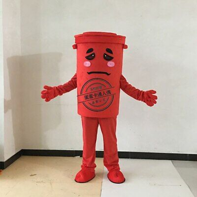 Trash Can Mascot Costume Suit Cosplay Party Game Dress Outfit Halloween