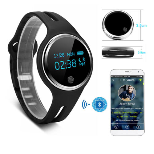 Bluetooth 4.0 Smart Wrist Bracelet Watch Waterproof Activity Fitness SMS Tracker