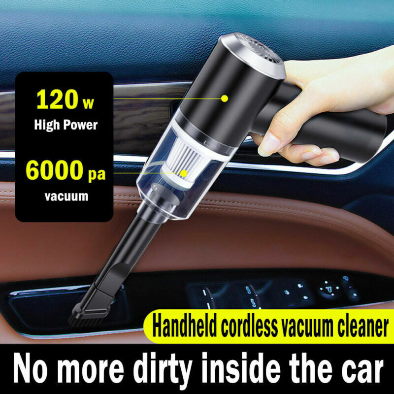 Cordless Wet & Dry Car Vacuum Cleaner Handheld Rechargeable Hair Wash Washable
