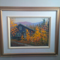 """The Ski Lodge""""(Camp Fortune) oil painting by Wes Williams"""