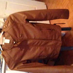 Leather and jeans jacket for girl size 8 in beresford
