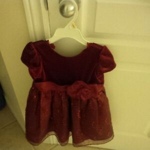 Like-new! 3T Holiday Girl's Red Dress & Red Jacket