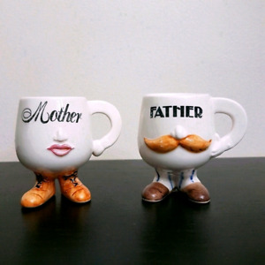 $15 Collectable Egg Cups for Mom & Dad. Mother & Father Egg Cups