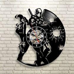 Handmade Vinyl Clock Deadpool Clock Birthday Gift Deadpool Gift Wall Clock Large