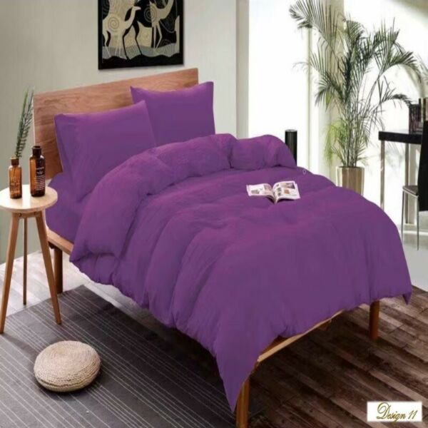 SINGLE bed DEEP PURPLE Fitted BedSheet + Pillowcase Set NEW!