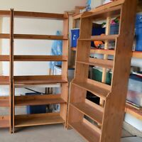 Ikea deal Only one left   light stain solid wood open bookcase