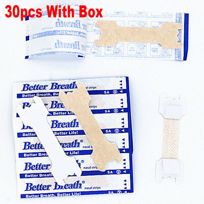 New 30pcs Anti-Snoring Nasal Strips For Better Breathe Relieve Nasal