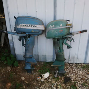 Old Johnson and Evenrude out boards 15+10 HP