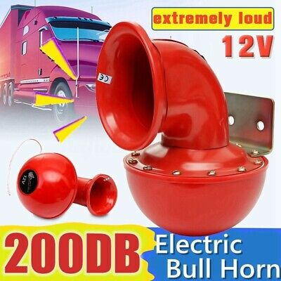 200DB 12V Super Loud Sound Electric Bull Air Horn For Motorcycle Car Truck (Bike Taxi)