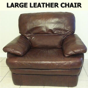 LARGE LEATHER CHAIR - GOOD CONDITION NO TEARS/SOILS