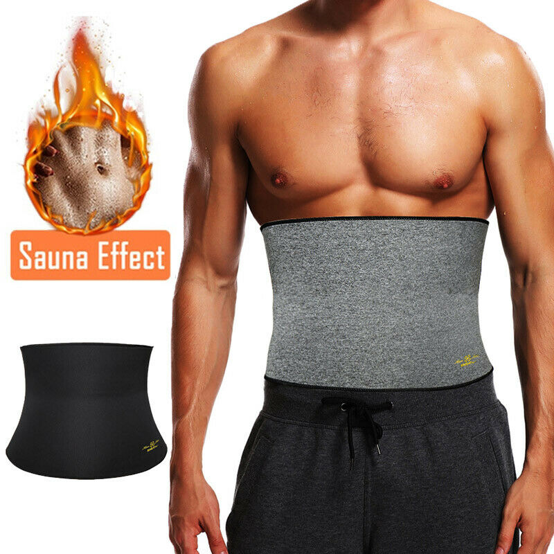 Men Sauna Sweat Band Belt Body Shaper Slimming Waist Trainer