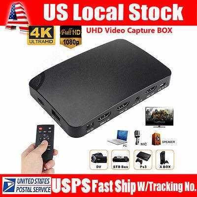 YK940 4K HDMI 1080P HD Video Capture Box UHD Recorder Box For DVD PC XBOX PS4