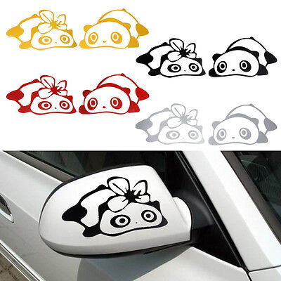 New Cute Panda Design 3D Decoration Sticker For Car Side Mirror Rearview Unique