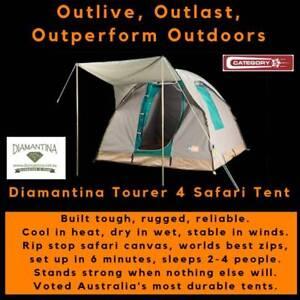 Diamantina Tourer 4 Canvas Safari Tent - FREE FREIGHT *