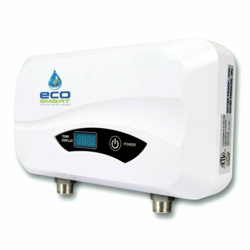 Electric Water Heater 5.5-kW 220-Volt Tankless Wall Mounted Digital Indoor White