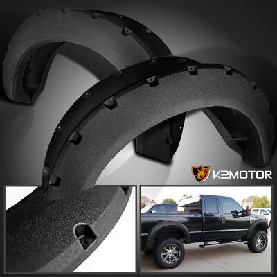Rugged Textured 2011-2016 Ford F250 F350 SuperDuty Pocket Style Fender Flares for sale  Walnut