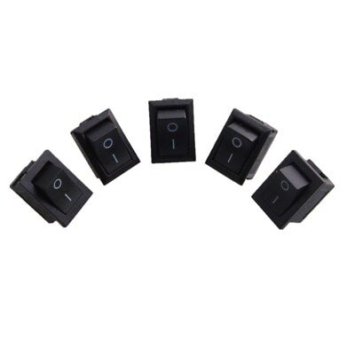 5 Pcs Mini Black Onoff Rocker Switch Rectangle Rocker Switch Black 2 Pin Spst