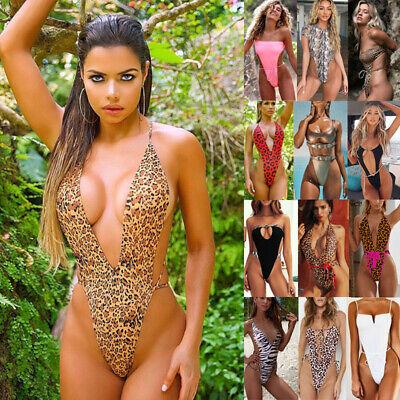 Hoher Schnitt Badeanzug Schwimmanzug Frauen Monokini String Ein Stück Beachwear