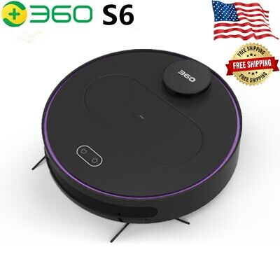 2021 360 S6 Robot Vacuum Cleaner LDS Smart Robotic Mopping APP Control Automatic