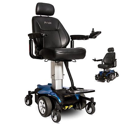 Pride JAZZY AIR Powerchair Elevating Seat Height Pride Electric Wheelchair, Blue