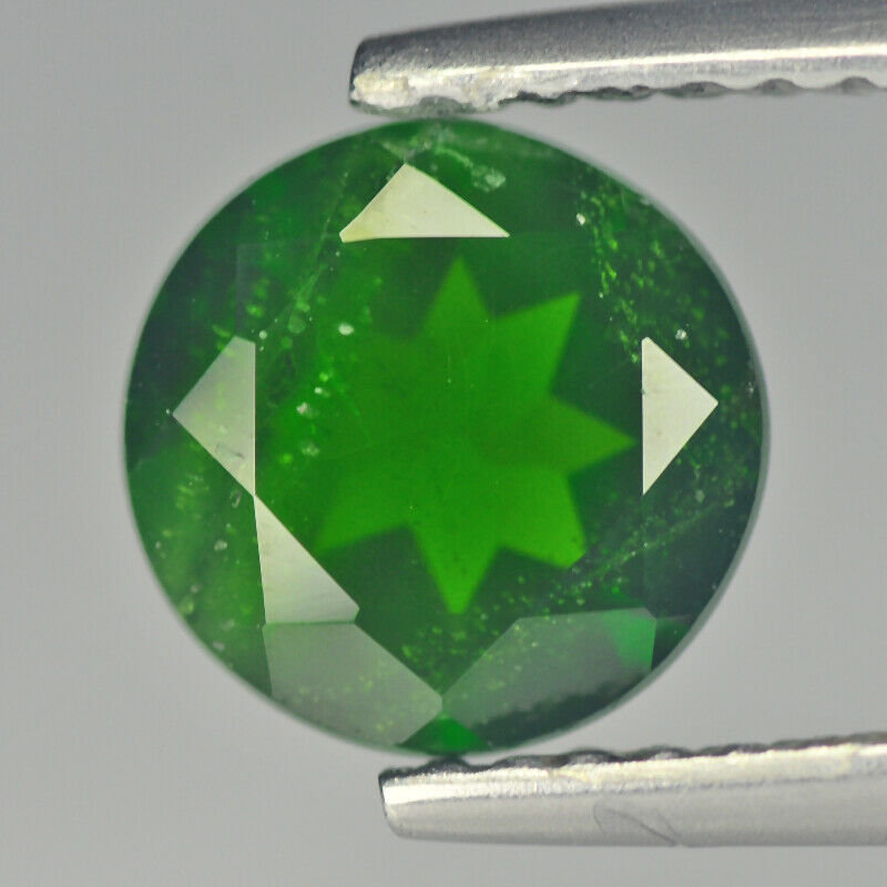 Green Chrome Diopside | Natural Chrome Diopside | Round 1.35 cts Gemstone