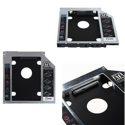 SATA 2nd HDD SSD Hard Drive Caddy for 12.7mm CD/DVD-ROM Optical Bay Laptop IFT U