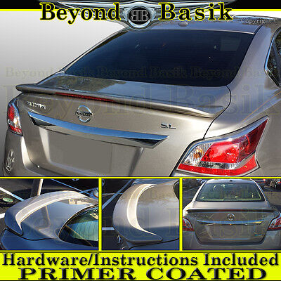 For 2013 2014 2015 Nissan Altima 4dr Factory Style Spoiler Wing wLED PRIMER