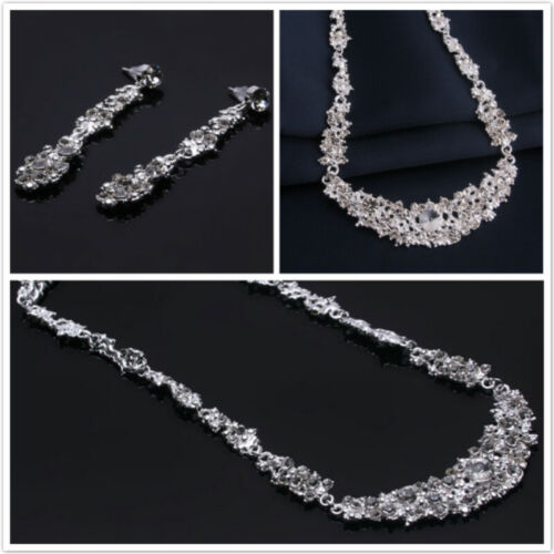 Crystal Necklace Earrings Party Jewellery