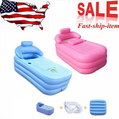 Blowup Adult Spa PVC Folding Portable Bathtub Warm Inflatable Bath Tub Brand New - Bathtub Inflatable