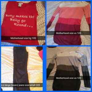 Maternity clothes sizes range from xs to large