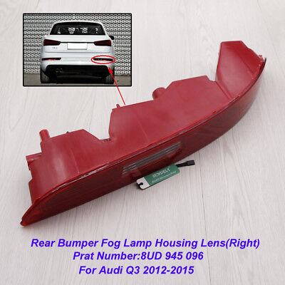 Right Side Car Lower Reflector Rear Tail Bumper Light Lamp Red For Audi Q3 12-15
