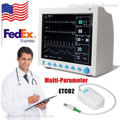 Cms8000 Patient Monitor Icu Ccu Vital Sign Machine Etco2 Capnograph Usa Ce Fda