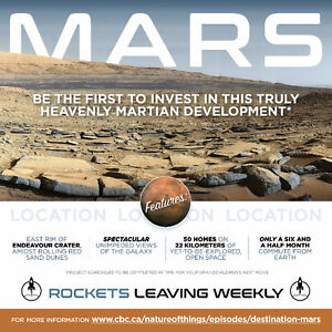 OUT OF THIS WORLD - Invest in this heavenly Martian development