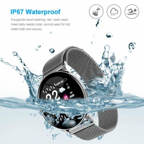 W8 Waterproof Color Screen Bluetooth Smart Watch Sport Heart Rate Health Monitor