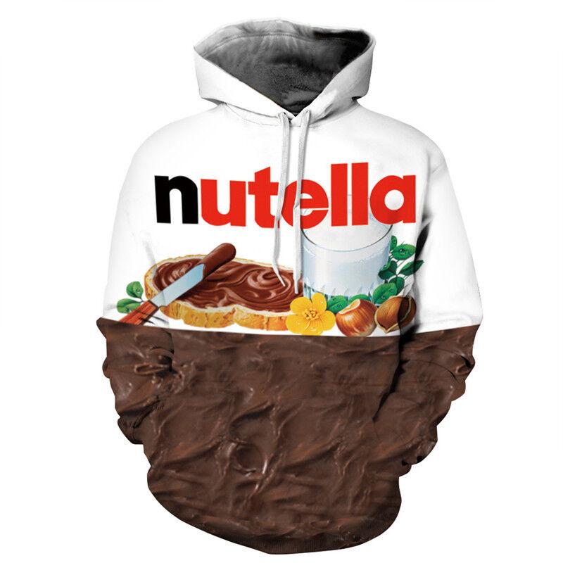 3D Nutella Ramen Sweatshirt Sweatjacke Kapuzenpullover Hoodies Pulli Mantel Top