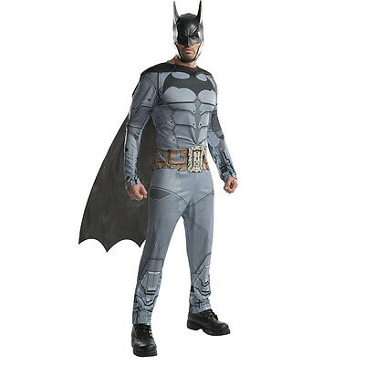 Arkham City Batman Kostüm (Kostüm Herren BATMAN Arkham City Lizenz XL toll Hero MARVEL neu billig)